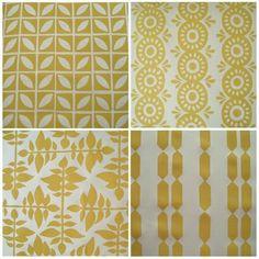Portfolio of block printed fabrics by HomeSweet