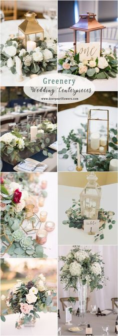 Greenery eucalyptus rustic wedding centerpieces #WeddingFlowers