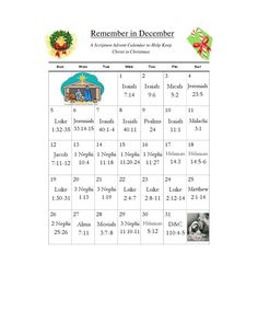 Scripture Advent calendar-- to help keep Christ in Christmas.