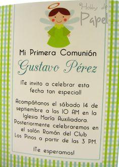 Invitación Primera Comunión para niño y niña. Sigue el link para más opciones. Colombia.