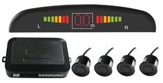 Car LED Parking Sensor Assistance Reverse Backup Radar Monitor System Backlight Display+4 Sensors ,car parking