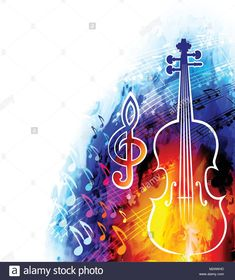 Classical music background with violin and musical notes , Music Backgrounds, Heart And Mind, Music Notes, Classical Music, Art Forms, Art Inspo, Musicals, Images, Neon Signs