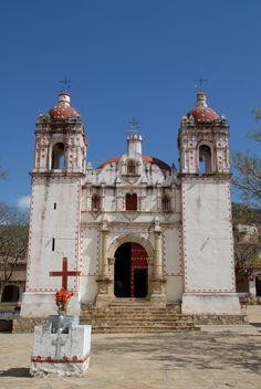 https://flic.kr/p/bpQRgD | Church Iglesia Oaxaca Mexico | This beautiful church can be found in the charming village of San Miguel del Valle near Tlacolula, Oaxaca, Mexico. This town offers many ecotourism opportunities and is home to very friendly people. Although the weather looks perfect, within an hour there was a terrific rainstorm in the city of Oaxaca.