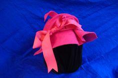 winter pink cloche with ruffle brim My favorite winter hat by Dayenu Design