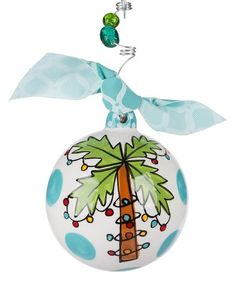 Love this Blue 'Life Is Better at the Beach' Ball Ornament on #zulily! #zulilyfinds Beach Ornaments, Painted Christmas Ornaments, Bird Ornaments, Ornaments Design, How To Make Ornaments, Christmas Bulbs, Tropical Christmas Ornaments, Classic Christmas Carols, Holiday