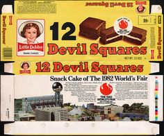 little debbie snack boxes | Little Debbie Devil Squares box - World's Fair - 1981 | Flickr - Photo ...