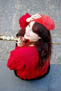 basco borsalino hat red naima amarilli gioco di donne