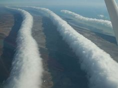 A morning glory is one of the rarest cloud formations in the world and occurs most often in northern Australia near the Gulf of Carpentaria.