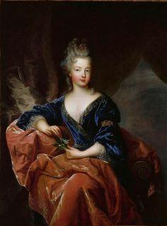 """Françoise-Marie de Bourbon, """"Mademoiselle de Blois"""" duchesse d'Orléans (May 25, 1677 – February 1, 1749) was the sixth illegitimate child an..."""