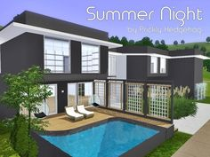 Summer Night house by Prickly Hedgehog - Sims 3 Downloads CC Caboodle