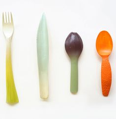 Biodegradable Vegetable Utensils 3D Printed by Qiyun Deng #3dPrintedHomeware