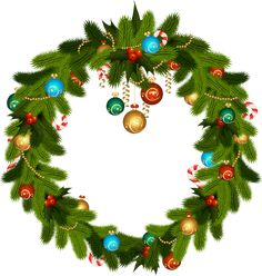 Christmas Wreath and Ornaments PNG Clip Art Christmas Flowers, Christmas Tree Decorations, Flower Decorations, Christmas Wreaths, Christmas Ornaments, Holiday Decor, Christmas Clipart, Christmas Images, Christmas Art