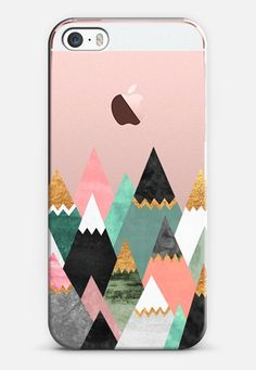 Pretty Mountains / Transparent iPhone SE case by Elisabeth Fredriksson | Casetify