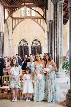 Love the floral bridesmaids dresses at this wedding! // Lisa Dawn Photography