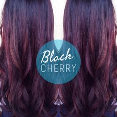 BLACK CHERRY FOR FALL! This black cherry balayage is the perfect update to a faded & brassy summer ombre.