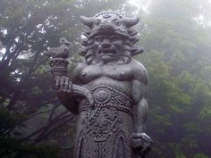 Statue of Radegast, a pagan god of Slavic mythology