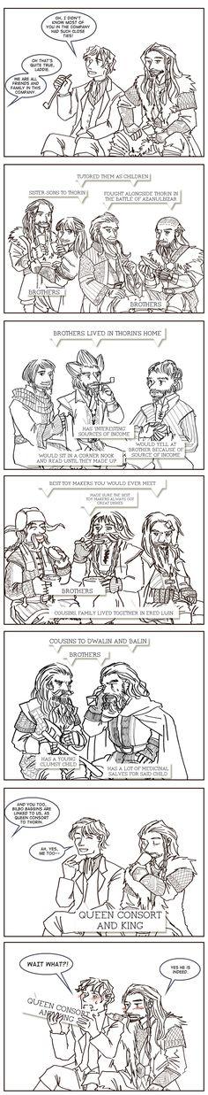 The relationships of dwarrows (and hobbit) by johanirae.deviantart.com on @deviantART