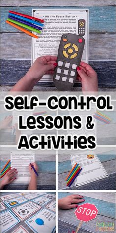 "Self-control lessons and activities for kids. Kids learn how to ""hit the pause button"" and ""stop and think"" before making decisions. Important skills for managing emotions and making good decisions!"