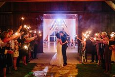 Sparkler exit (Jessica Shae Photography)