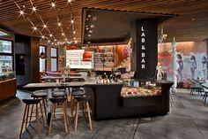 White Monkey Pizza Lab & Bar, Leipzig. A project by Ippolito Fleitz Group – Identity Architects, Surfaces.