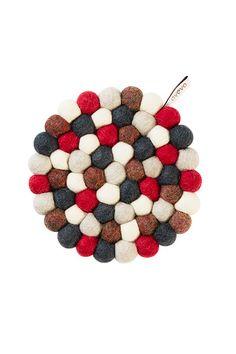 Aveva Round Wool Trivet Bubbleberry