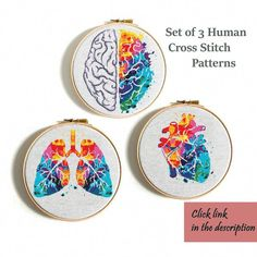 Modern cross stitch pattern Heart cross stitch Human Anatomy cross stitch Science cross stitch chart Rainbow pattern Funny cross stitch PDF - sticken - rainbow Stills Modern Cross Stitch Patterns, Counted Cross Stitch Patterns, Cross Stitch Designs, Embroidery Hearts, Cross Stitch Embroidery, Embroidery Patterns, Funny Embroidery, Hand Embroidery, Cross Stitch Heart