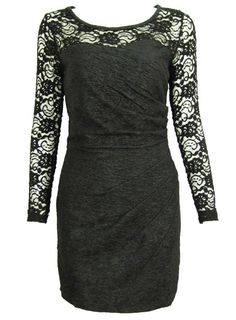 Occasion, Charming Lace Long Sleeves Round Neck Little Party Dress, to,36.99