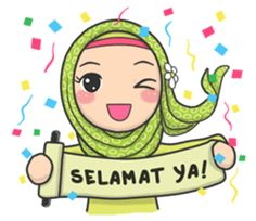 Bunga back again with new stickers that you can use everyday, let's use this stikers for you daily conversation Emoji People, Ied Mubarak, Hijab Drawing, Islamic Cartoon, Anime Muslim, Hijab Cartoon, Islamic Girl, Webtoon Comics, New Sticker