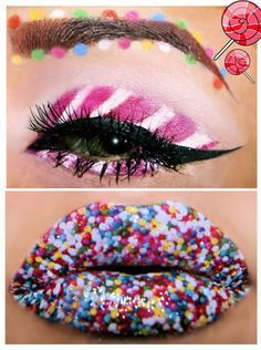Candy Costumes For Adults Candy Makeup, Clown Makeup, Costume Makeup, Halloween Face Makeup, Eye Makeup, Skull Makeup, Makeup Art, Beauty Makeup, Candy Girls
