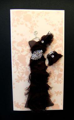 Just Gorgeous! Daniella Personalized Dress Card / DL Size / Handmade by BSylvar