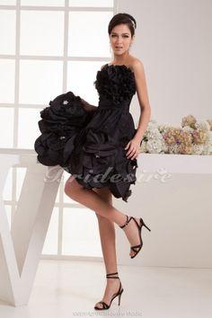 A-line Strapless Knee-length Sleeveless Taffeta Dress - $84.99