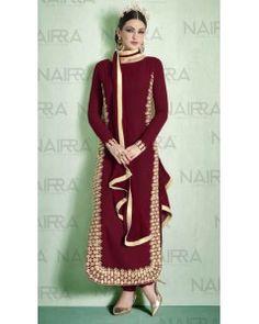 Maroon Embroiderd Salwar Suit