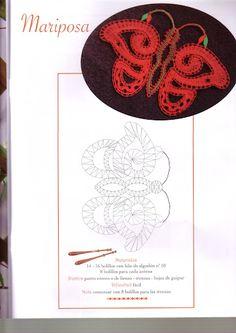renda de bilros / bobbin lace Animais / Animals Teneriffe, Bobbin Lace Patterns, Lace Heart, Lace Jewelry, Needle Lace, Lace Making, Crochet Motif, Lace Detail, Tatting