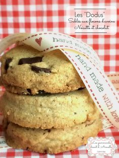 """Les """"Dodus"""" : sablés aux flocons d'avoine, noisette et chocolat"""