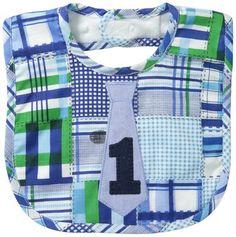 Mud Pie Baby-Boys Newborn I Am One Tie Bib, Multi, One Size
