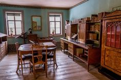 The office and study where Goethe worked in Weimar, Germany.