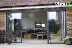 Bifold Patio Doors House Extensions 22 Ideas For 2019 Kitchen Patio Doors, Exterior Patio Doors, Sliding Patio Doors, Sliding Glass Door, Folding Glass Patio Doors, Folding Doors, Glass Doors, Outdoor Patio Shades, Slider Door