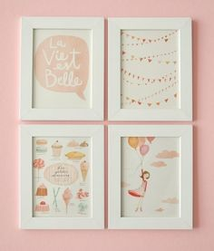 adorable artwork for a girls room...