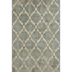 Found it at AllModern - Melody Ivory/Blue Area Rug
