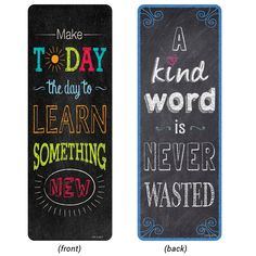 Chalk It Up Quotes Bookmarks Motivational