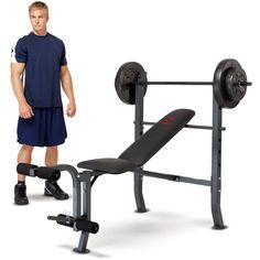 Marcy Diamond Weight Bench w/ 80lb Weight Set: MD-2080 Price