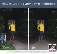 How to Create Symmetry in Photoshop via Melanie Weyer and iHeartFaces.com