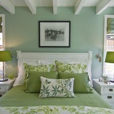 26 Awesome Green Bedroom Ideas | Green bedroom design, Green ...