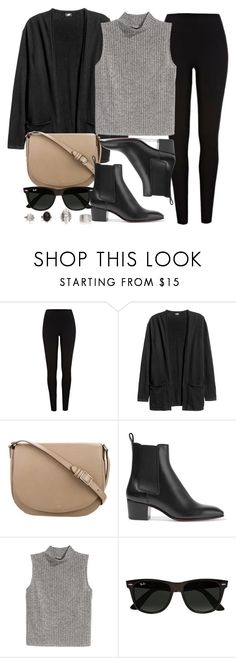 """""""Style #11445"""" by vany-alvarado ❤ liked on Polyvore featuring River Island, CÉLINE, Christian Louboutin, H&M and Ray-Ban"""
