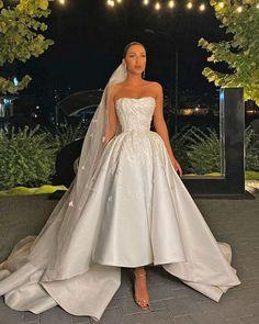 Trend Of The Year: 24 High Low Wedding Dresses ❤ high low wedding dresses sweetheart strapless neckline with train liastublla #weddingforward #wedding #bride