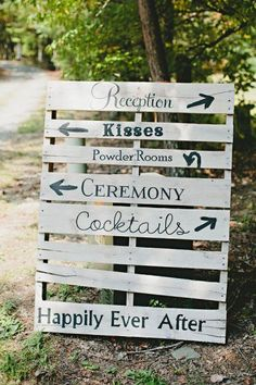 15 Pallet Sign Ideas For Your Wedding - Rustic Wedding Chic