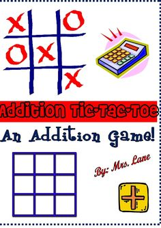 Addition Tic-Tac-Toe Game! (For Elementary)