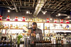 The hottest bar in One Loudoun is run by Jeremy Ross. Bartender extraordinaire at Sense of Thai St!