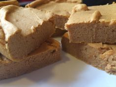 High Protein Pumpkin Bars Makes 6 bars - 45 calories each 270 calories for WHOLE batch 3g Fat 29g Carb 34g Protein