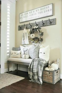 Love the bench and hooks!